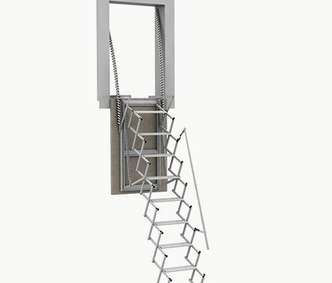 Maniglioni sbarco scale retrattili su misura - Scale retrattili a parete ...
