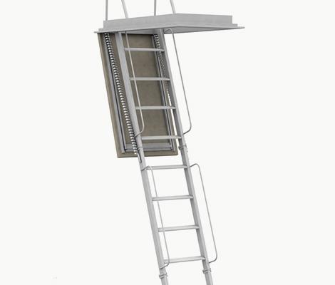 Gradini in legno per scale retrattili su misura for Scala per soffitta