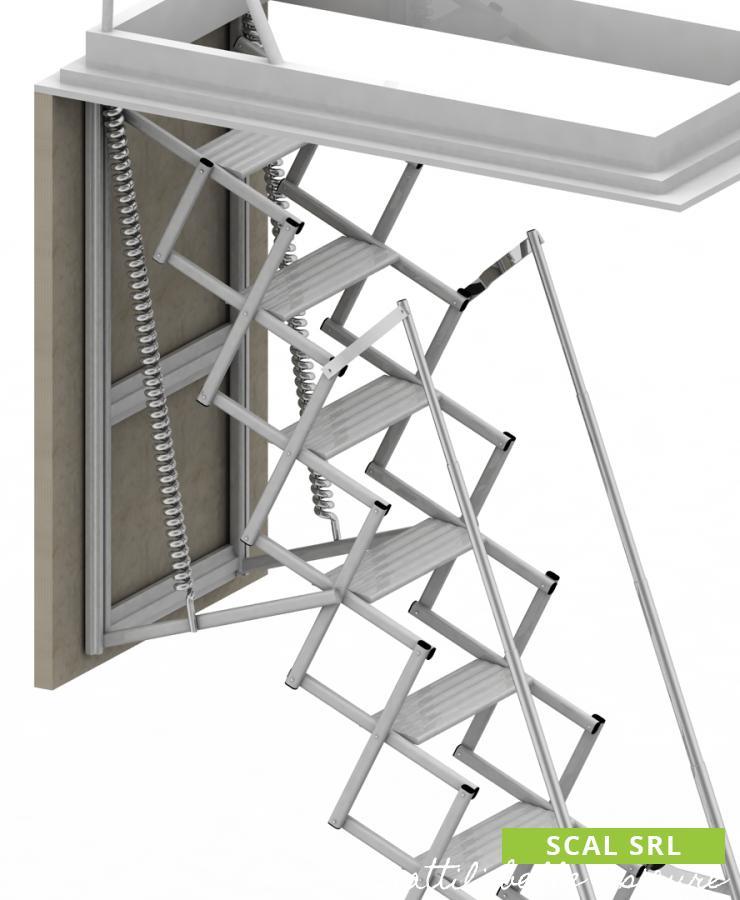 Scala Retrattile in Alluminio