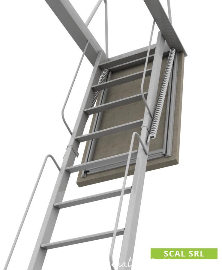 scala retrattile a elementi in alluminio