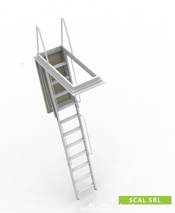 scala retrattile per soffitta motorizzata