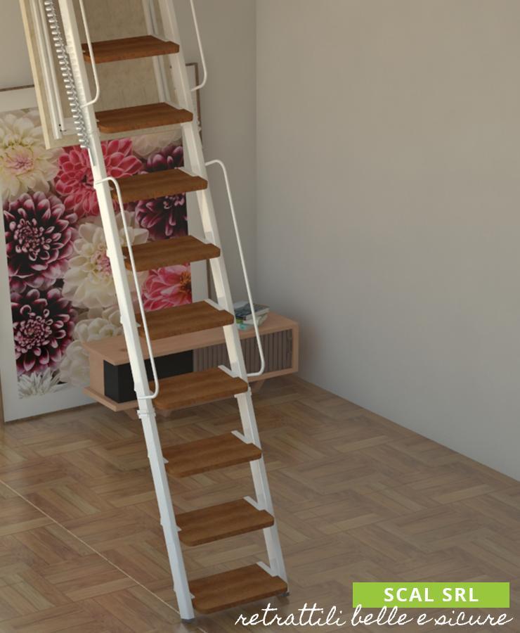 gradini in legno scale retrattili