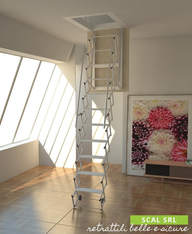 Scala retrattile a soffitto scale retrattili per soffitte - Scale a botola da soffitto ...