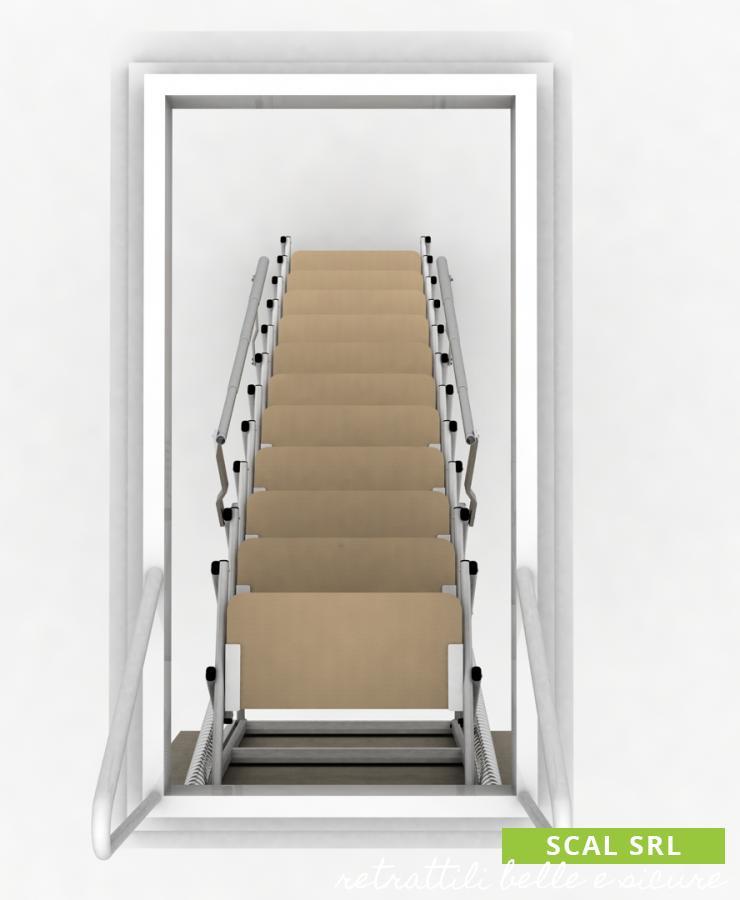 scale retrattili a soffitto su misura