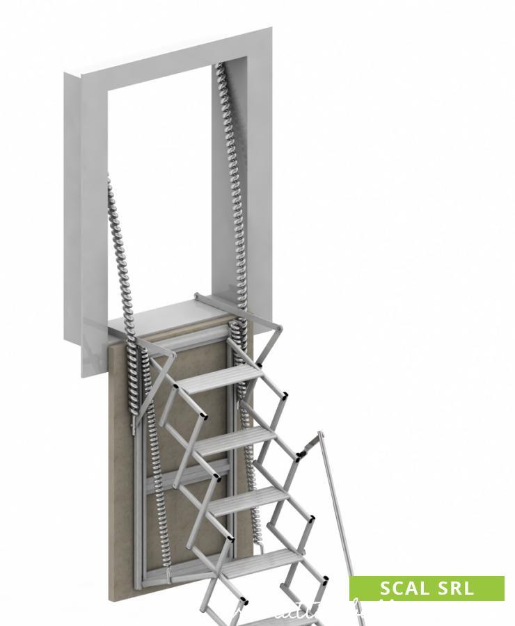 scala retrattile in alluminio per fori verticali