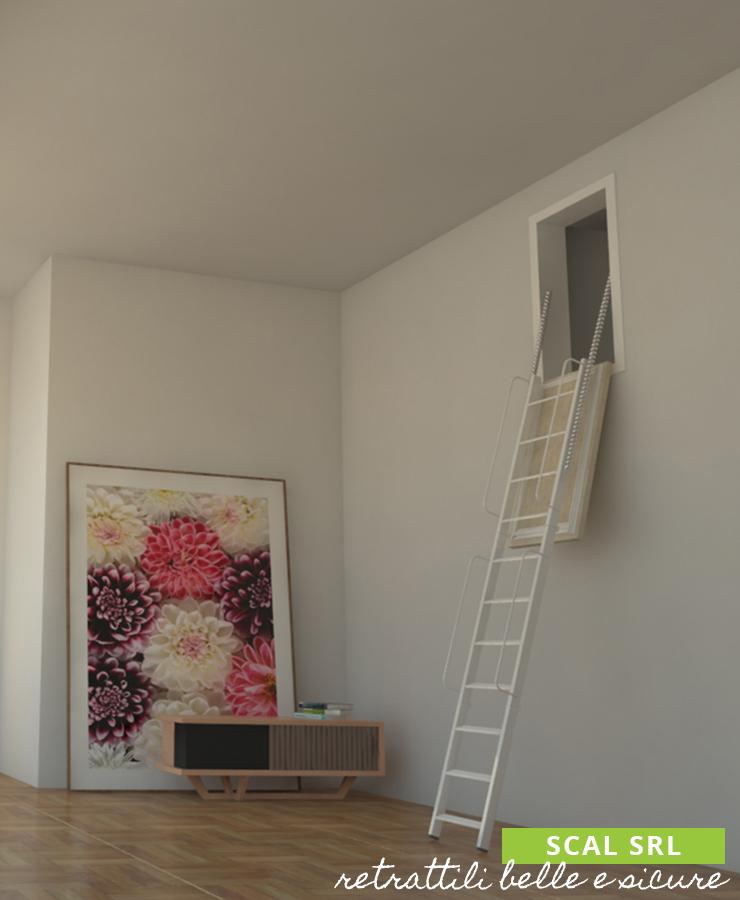 scale retrattili a parete verticale