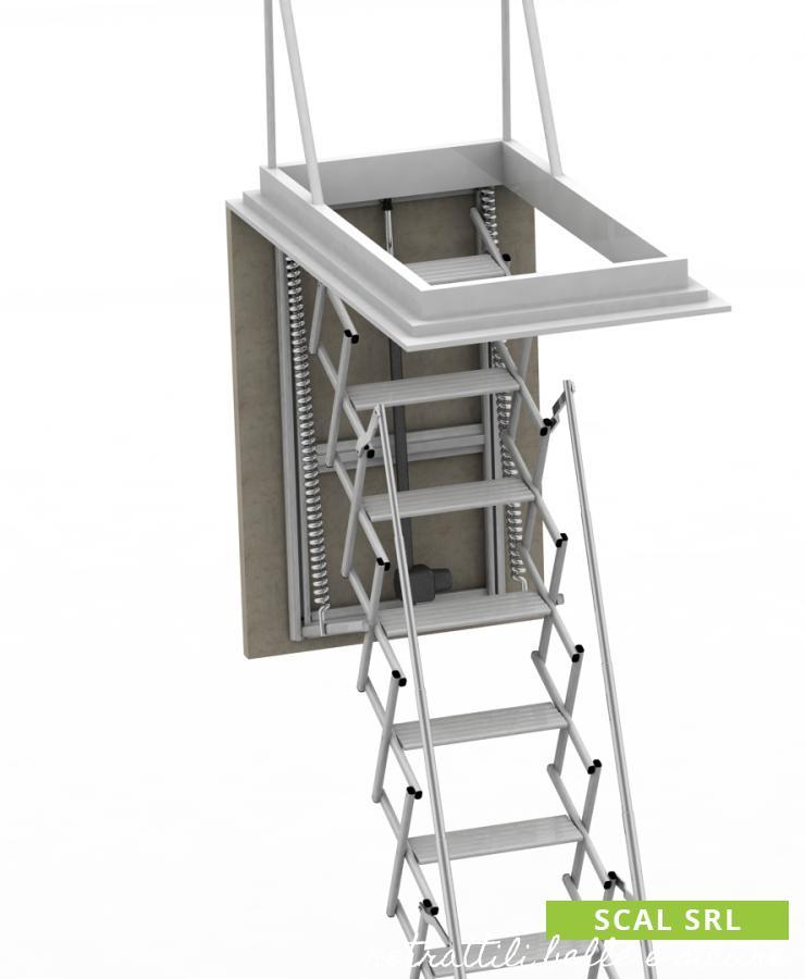 scala retrattile motorizzata su misura