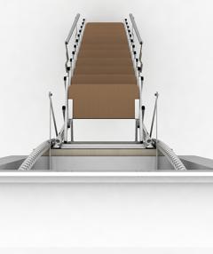 scala retrattile per fori verticali