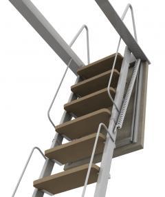 scale retrattili a elementi in legno
