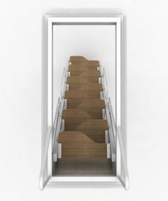 retrattili a soffitta con gradini in legno