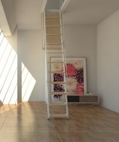 retrattile per soffitte gradini in legno