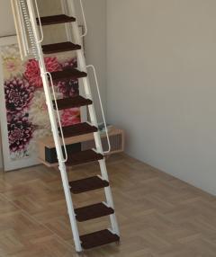 scala retrattile a parete su misura
