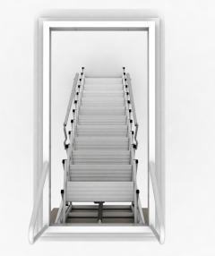 scale retrattili motorizzate a soffitto