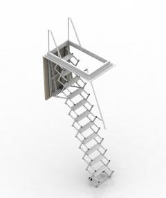 scala retrattile motorizzata