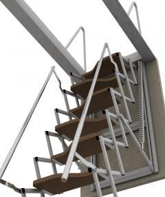 scala retrattile per soffitte su misura